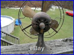 Antique GE General Electric Whiz brass blade fan