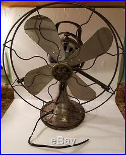 Antique GE Oscillating 16 FAN Type AOU AK1 75423 General Electric