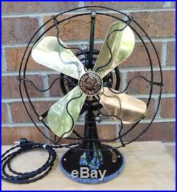 Antique GE Whiz Fan. 9 Brass Blades. Oscillates. Just Refinished, Runs Great