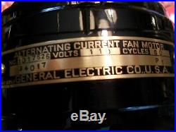 Antique GE general Electric small motor yoke brass blade cage fan restored NICE