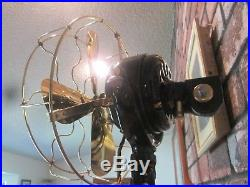Antique Ge Fan Vintage Sidewinder Fan Brass Blade Fan Vintage Ge Fan See Photos