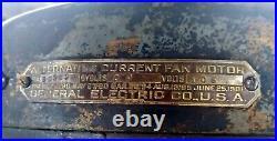 Antique General Electric 52 OAK LEAF CEILING FAN RARE 1901 & WORKS! Needs TLC