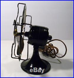 Antique General Electric 6 Brass Blade Fan Series H