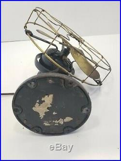 Antique General Electric Brass Blade & Cage Fan, 3 star fan