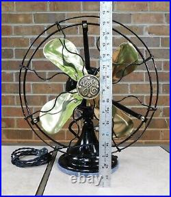 Antique General Electric Fan. 3 Speed, Brass, Cast, Just Reworked. 12 Blades