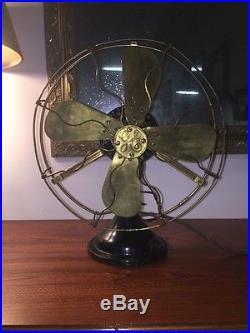 Antique General Electric Fan. Collar Oscillating Fan