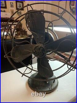 Antique General Electric Form ANI Cat 75423 3 Speed Oscillating Desk Fan