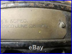 Antique General Electric GE Brass Blade Cast Iron Pancake Fan Fancy Base 1901