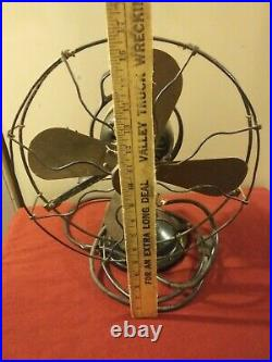 Antique General Electric GE Oscillating Fan Brass Blades. 75423 for repair