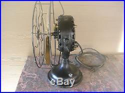 Antique General Electric GE Pancake Fan Runs Strong Patent June 25, 1901