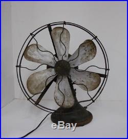 Antique General Electric Ge Fan Alternating Current Fan Motor 1906 Works Retro