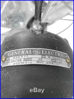 Antique General Electric Large Art Deco Vortalex Oscillating Fan 16 Inch blade