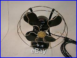 Antique General Electric Whiz Fan. 9 Blades, Made 1918/19. Just Reworked, Nice