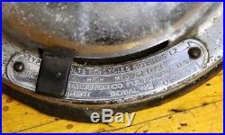 Antique Hunter 16 Blade Chrome Industrial Desk Fan Oscillating 3 speeds Vintage