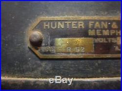 Antique Hunter R-52 Ceiling Fan, Runs