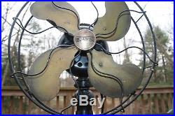 Antique Industrial EMERSON 29646 Brass Blade Fan FULLY TESTED + WORKS