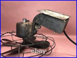 Antique Industrial Wall Mount GENERAL ELECTRIC Fan WORKS Steampunk (A11)