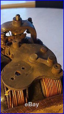 Antique Knapp Bi Polar Type F Fan Motor DC Electric Battery Circa 1895 Project