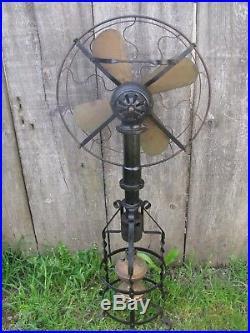 Antique Lake Breeze Model B Hot Air Fan Floor Model Sterling Engine Wow