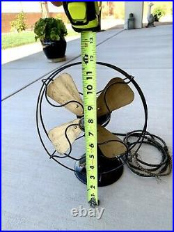 Antique Late 1920s Emerson'Northwind' Type 444A Cast Iron 2 Speed Desk Fan