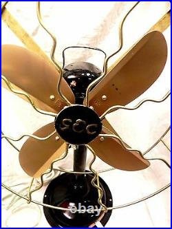 Antique Look Western Electricpropeller Fan Iron Cast Rare To Find