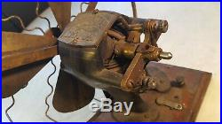 Antique MANHATTEN No. 3 Fan Motor Bi Polar DC Battery-Great Restoration Project