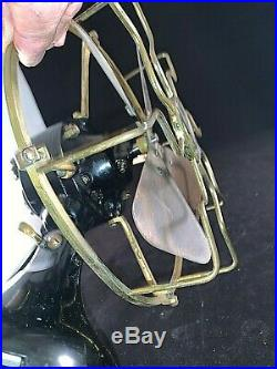 Antique MENOMINEE 8 Brass Blade and Cage Table Fan