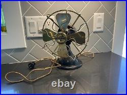 Antique Menominee Electric Mfg Cofan Black/gold Brass Working Serial #a16323