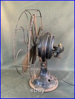 Antique Menominee Snowflake 16 Brass Blade Fan for Restore