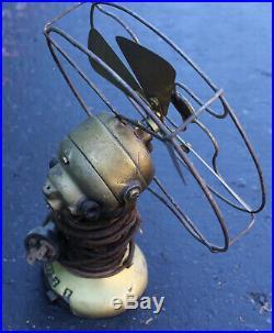Antique North Wind Type 44B Electric Fan 6.5 Art Deco 4 Blade 110V 44 B Emerson