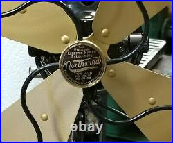 Antique Oscillating 10 Emerson Northwind Electric Fan, c1931, Restored