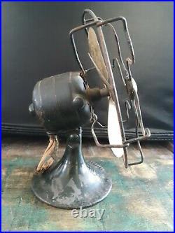Antique Pair 6 General Electric Fan Brass Blade Series F Vintage GE (1924-1926)