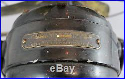 Antique Patd 1895 General Electric GE Alternating Current Electric Fan, NR