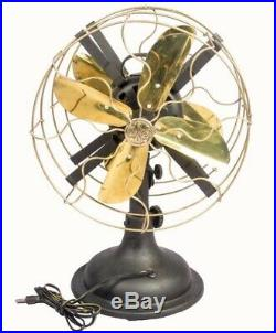 Antique Pedestral Marelli Partners Electric Fan With Working Mechanism TF 02