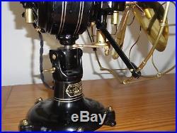 Antique Peerless/Colonial FFI-8 Front Oscillator Electric Fan- Circa 1912