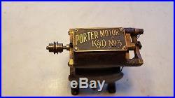 Antique Porter K & D No. 3 DC Bi Polar Electric Toy Fan Motor