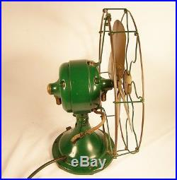 Antique Pre 1920 G. E. Cat. 34017, AUU Brass Blade & Cage Fan. NICE