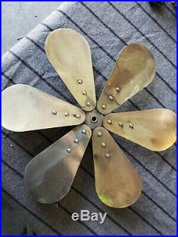 Antique R&M 16 fan brass 6 wing blade