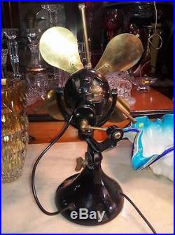 Antique Rare Art deco Verity´s 12 Orbit Electric Fan/Oscillating VIDEO