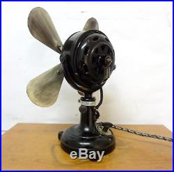 Antique Rare Marelli Electric Fan Working Three Speeds Collectable Very Heavy