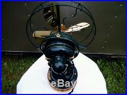 Antique Restored 9 Ge D. C. Oscillator Fan