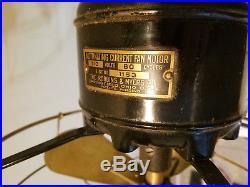 Antique Robbins Myers Brass Blade Fan Standard 3 Speed List No. 1153 HTF Rare Ex
