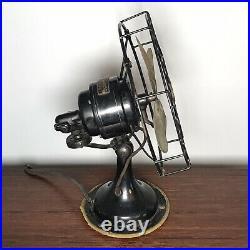 Antique Robbins & Myers Brass Oscillating Fan 3600 WORKS