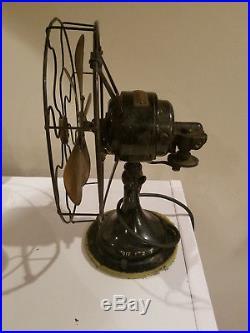 Antique Robbins Myers Co Brass Blade Fan 2610 HTF Rare Vtg Electric Oscillating