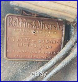 Antique Robbins & Myers Oscillating Art Deco Fan Vintage