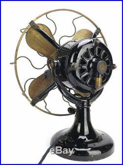 Antique Shedd Electric Tank Motor Brass Fan
