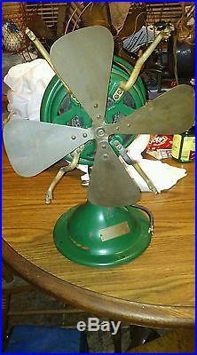 Antique Snowflake Menominee brass blade electric fan