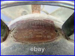 Antique Table Fan Emco Japan Brass Blades & Metal Body Collectibles Circa 19654