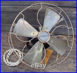 Antique VERITYS Ltd 10 Inch AC Electric Fan
