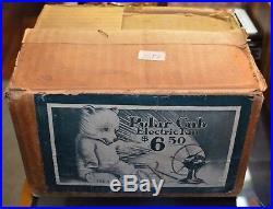 Antique Vintage 1920s Polar Cub Electric Fan With Orignal Box and Tag Runs